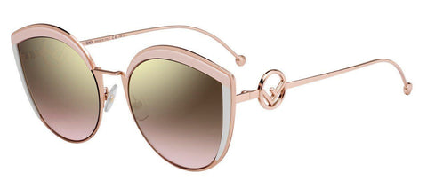 45bbc7cb4553 Fendi shows off with a super slim metal oversized look that will compliment  this season perfectly. The cat eye shape is reflected in a pop of acetate  ...