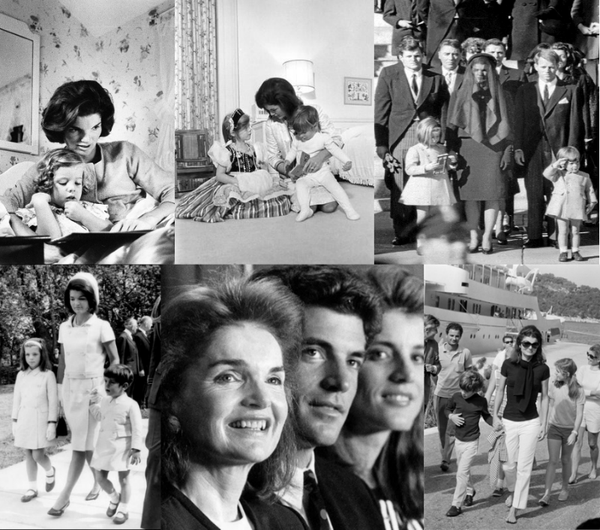 Jackie Kennedy Onasis as a Mother