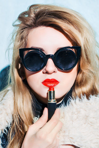 Match your lipstick to your sunglasses on AmericanSunglass.com