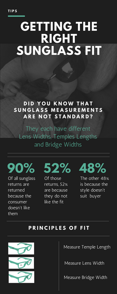 Sunglass Sizes for the perfect fit