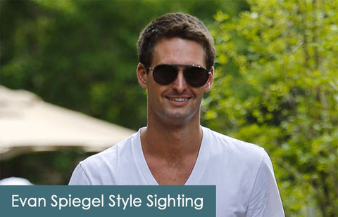 Evan Spiegel on AmericanSunglass
