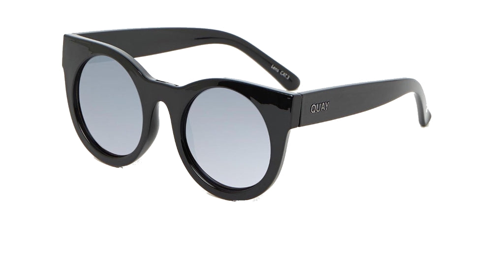 Quay Right Time Black / Lilac Mirror Sunglasses