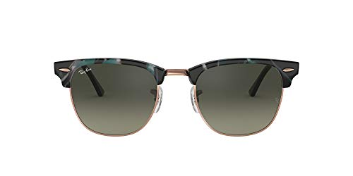 Ray-Ban RB3016F Clubmaster Square Asian Fit Sunglasses, Spotted