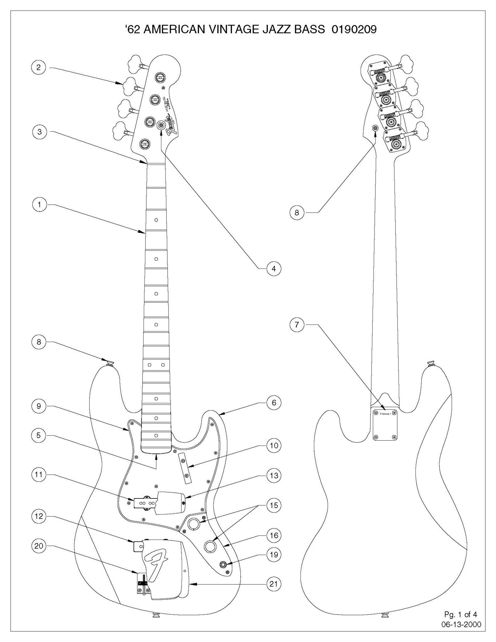 Jazz Bass Concentric Wiring Diagram House Symbols 74 Fender B Diagrams Sigler Music Rh Siglermusiconline Com P For 500k