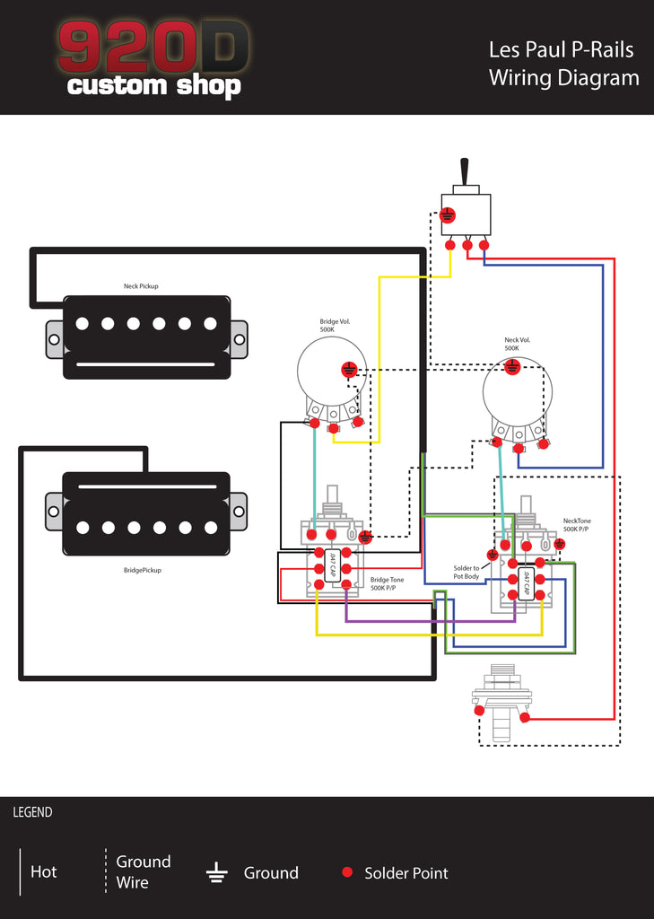 Diagrams  Les Paul PRails     Sigler Music