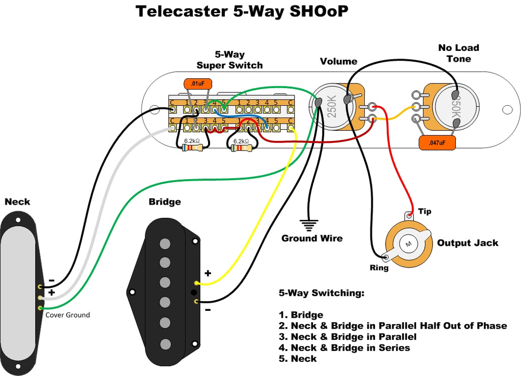 way tele wiring image wiring diagram 5 way tele wiring diagram 5 home wiring diagrams on 5 way tele wiring