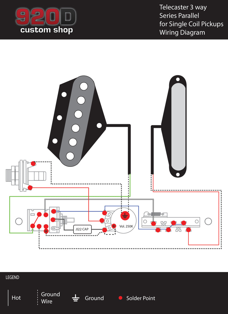 Diagrams – Telecaster 3 Way Series Parallel for Single Coil Pickups ...