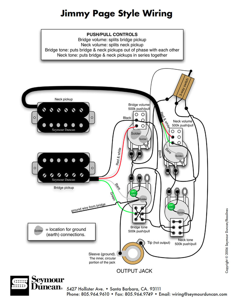 diagrams - les paul jimmy page – sigler music  sigler music