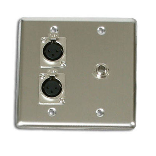 OSP Quad Wall Plate with 2-XLR and 1 1/4in