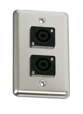 OSP Duplex Wall Plate w/2-Speakons Neutrik Connectors