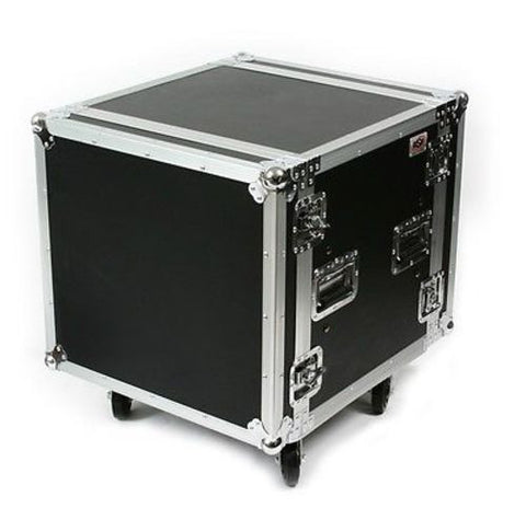"OSP SC10U-20 10 Space 10 U ATA Shock Amp Flight Rack Case 19"" Wide 20"" Deep"