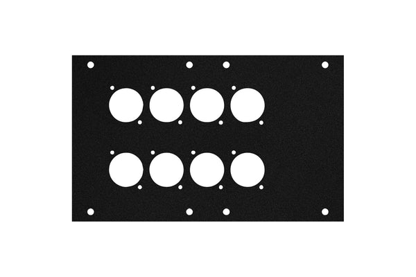 Elite Core ACE-PNL120-8D Black Metal Panel for Full Stage Pocket with 8 D-Series Punch-Outs