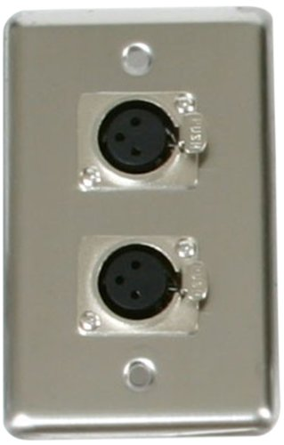 Elite Core OSP D-2-XLR Duplex Wall Plates with 2-XLR