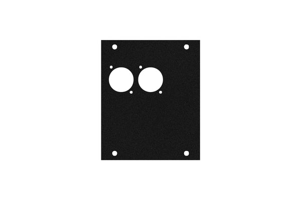 Elite Core ACE-PNL100-2D Black Metal Panel for Half Stage Pocket with 2 D-Series Punch-Outs