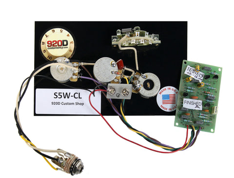 920D Custom S5W-CL 5-Way Stratocaster Wiring Harness w/ Master TBX Tone and 25dB Mid Boost