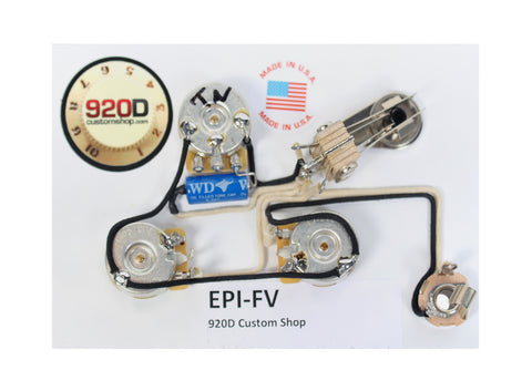 920D Custom EPI-FV Epiphone Flying V Wiring Harness, Chrome Hardware