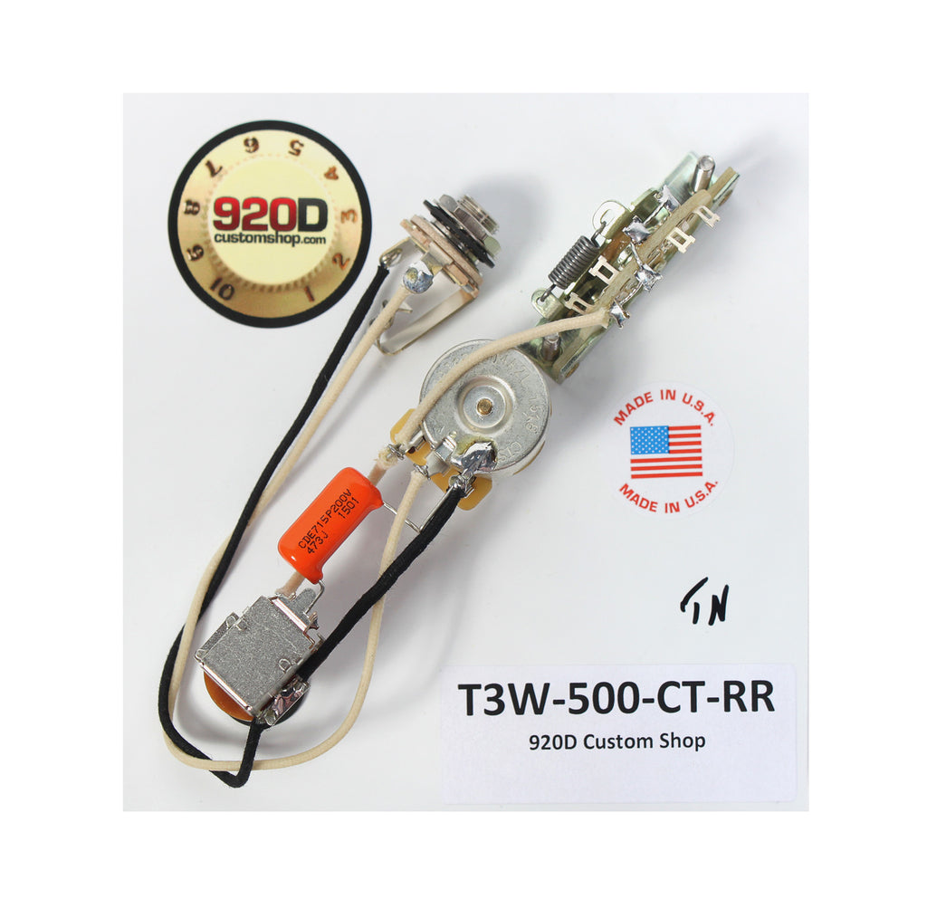 fender tele 3 way wiring harness 500k long shaft pots coil tap Telecaster Humbucker Cavity fender tele 3 way wiring harness 500k long shaft pots coil tap rea \u2013 sigler music