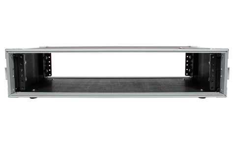 "XSPRO XS2U-10 2 Space 2U ATA Effects Rack Flight Case Front Back Rails -19"" Wide"