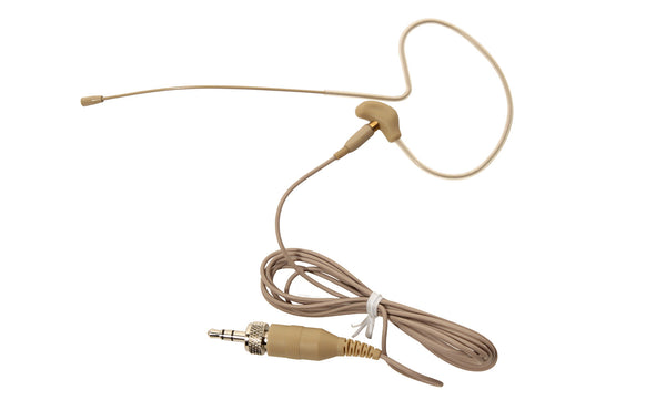 OSP HS-09 Headset Head Worn Earset Invisible Mic Microphone Wired for Shure Tan