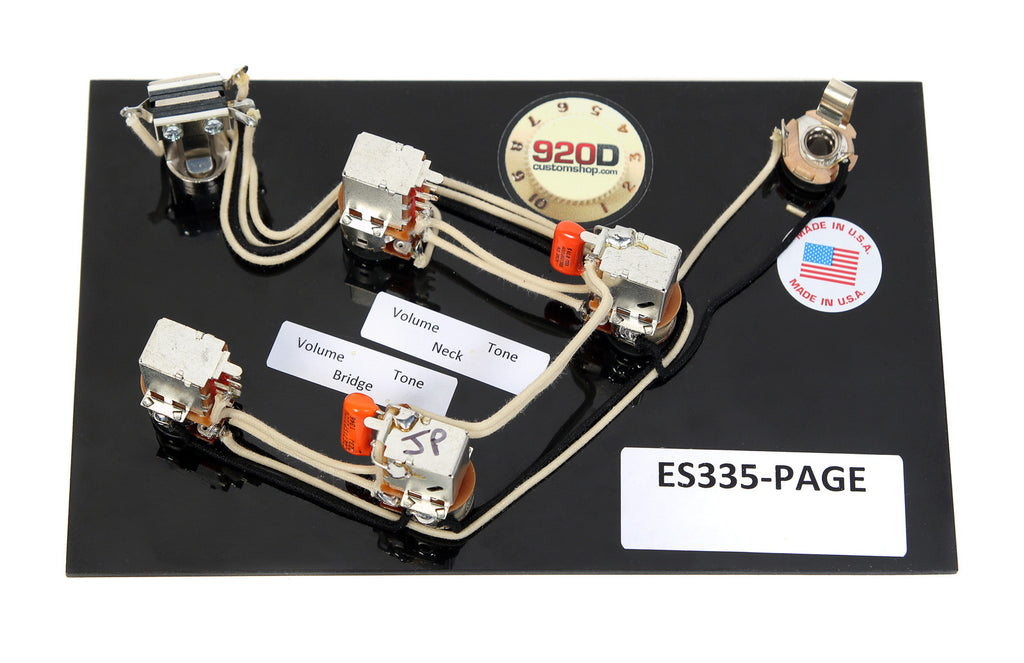 jimmy page wiring harness 920d gibson es 335 jimmy page wiring
