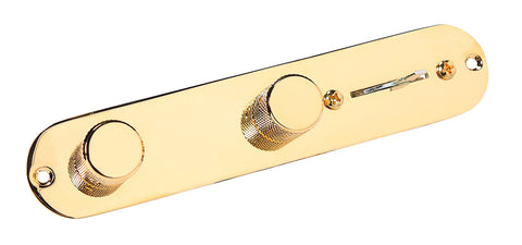 920D Custom Shop Loaded 4-way Telecaster Control Plate Gold