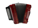 Rizatti Bronco RB31GR Diatonic Accordion - Red - Key G/C/F