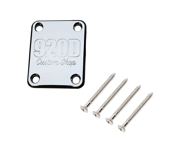 920D 4 Bolt Neck Plate with Gasket and Screws Fits S Style and T Style Chrome