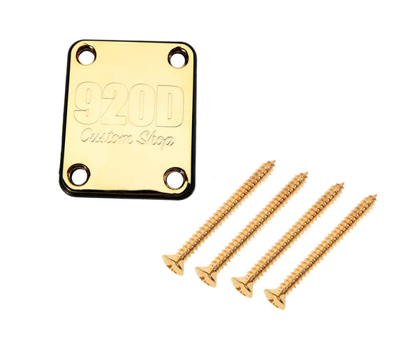 920D 4 Bolt Neck Plate with Gasket and Screws Fits S Style and T Style Gold