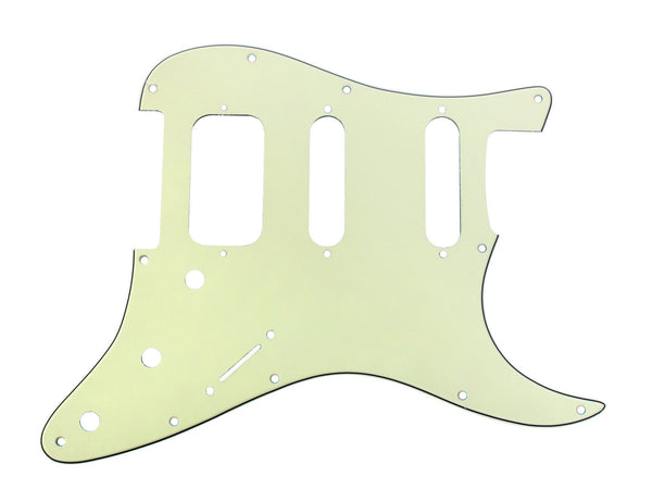 920D Custom 3 Ply HSS Pickguard S Style CNC Cut, Mint Green