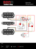 920D Custom Shop Ibanez RT RG Wiring Harness CRL 5-way CTS 500K Gavitt Vai