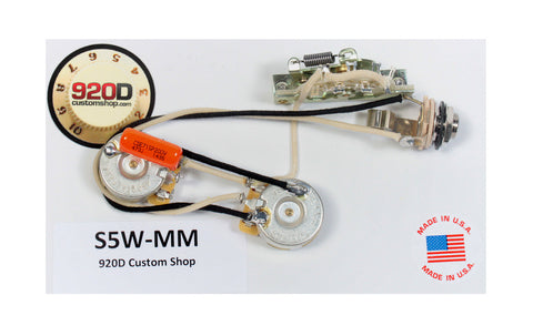 920D Custom Shop Music Man 5-way Wiring Harness for Silhouette SSS, Sub1