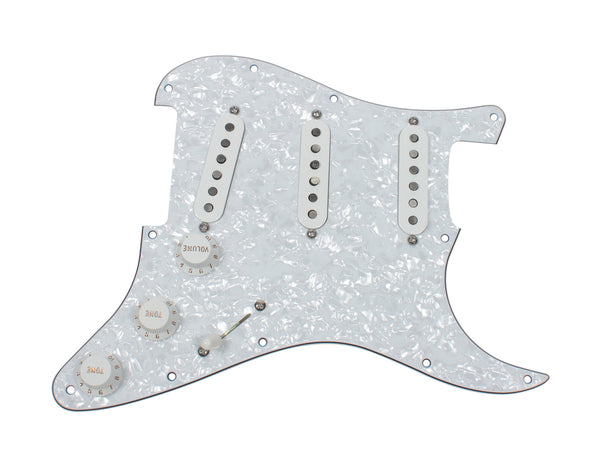 920D Custom Texas Vintage Pre-Wired Loaded SSS Pickguard White Pearl / White