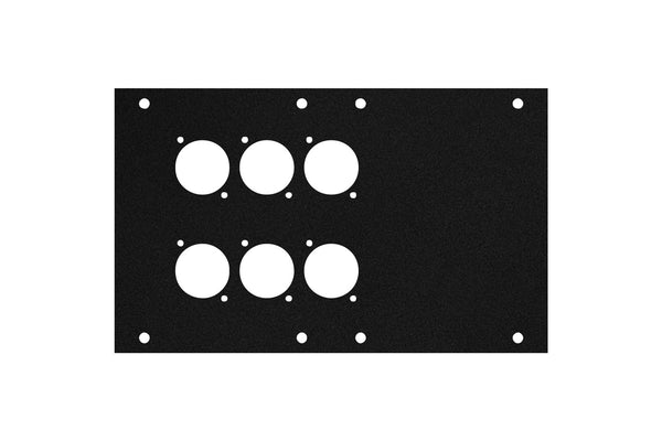 Elite Core ACE-PNL120-6D Black Metal Panel for Full Stage Pocket with 6 D-Series Punch-Outs