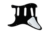 920D Custom Shop 1 One Ply Pickguard for Fender Stratocaster, Black 11 Hole
