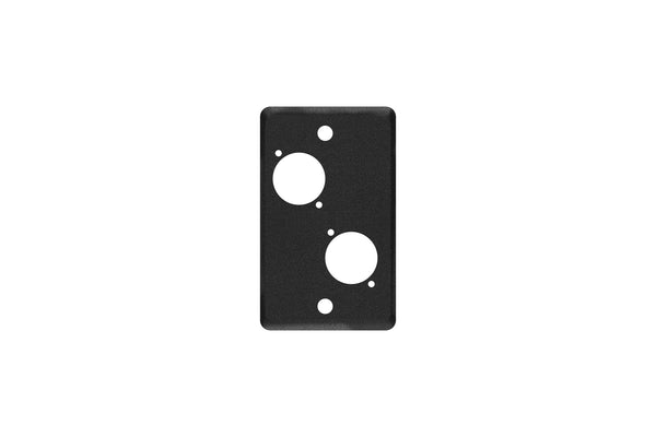 Elite Core EC-1G-2D Black Single Gang Wall Plate with 2 D-Series Punch Outs