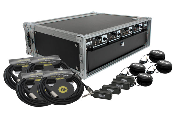 Elite Core HA4X4 Deluxe Rack Pack Four User System With Remote Volume Control
