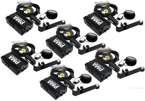 Elite Core 6-Pack of PMA Personal Monitor Deluxe Stations w/ EU-5X Earphones