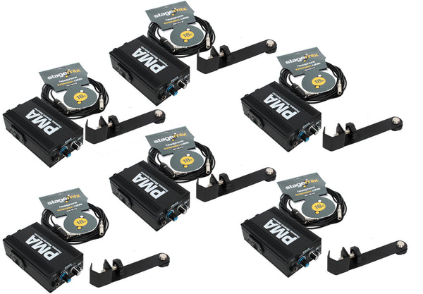Elite Core 6-Pack of PMA Personal Monitor Amplifier Listening Stations