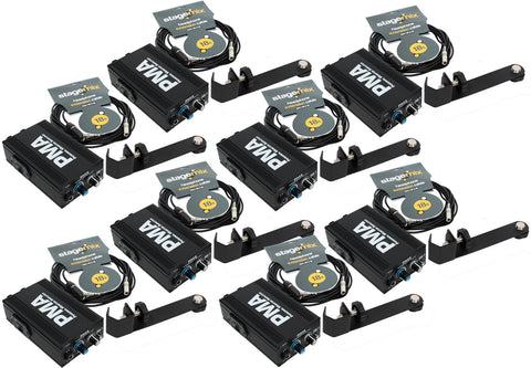 Elite Core 8-Pack of PMA Personal Monitor Amplifier Listening Stations