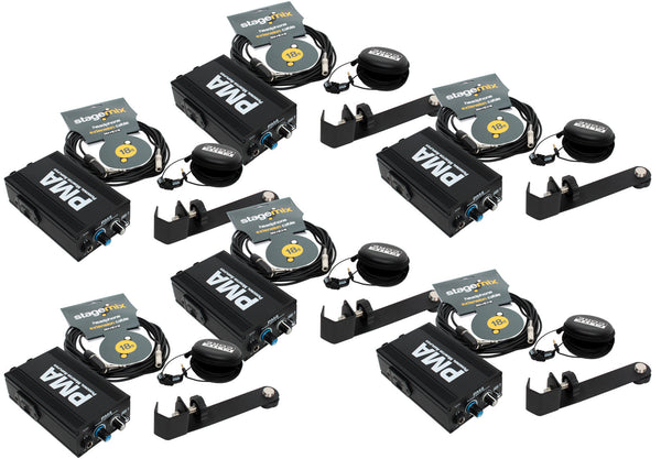 Elite Core 6-Pack of PMA Personal Monitor Listening Stations w/ EU-5X Earphones