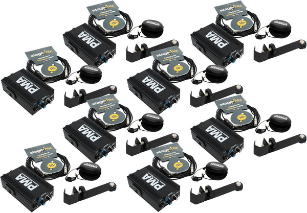 Elite Core 8-Pack of PMA Personal Monitor Listening Stations w/ EU-5X Earphones