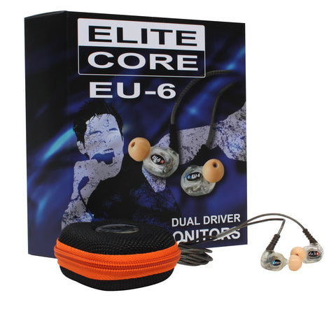 Elite Core EU-6 Dual Driver In-Ear Monitor Headphones