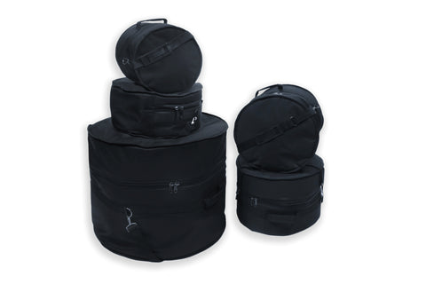 OSP 5 Piece Standard Deluxe Padded Drum Bag Set