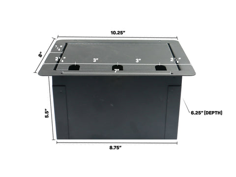 Elite Core FBL-BLANK Large Recessed Floor Box With Blank Plate