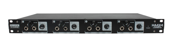 Elite Core HA4X4 4 Channel Headphone / Line Distribution Amplifier