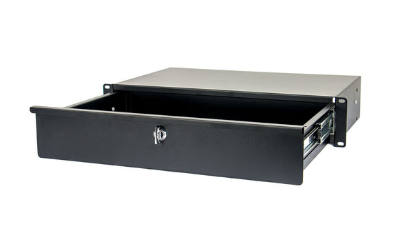OSP 2 Space Rack Rackmount Shallow Case Drawer with Lock HYC-2US