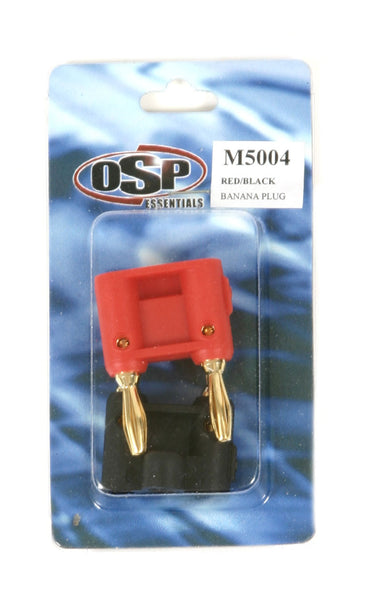 OSP Red/Black Banana Plugs - (2 Pak)