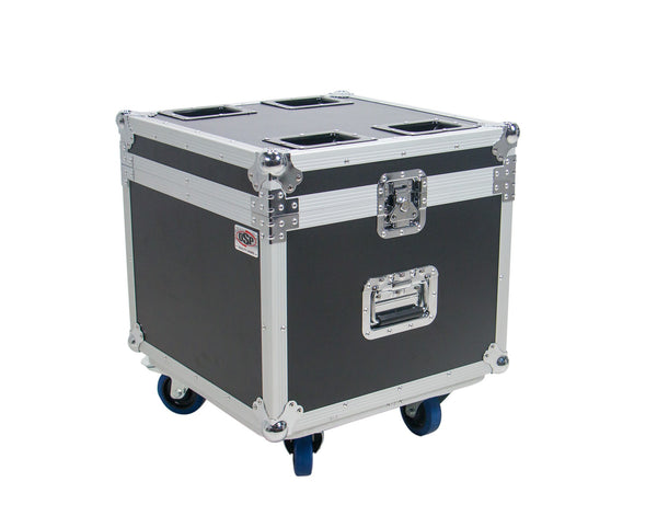OSP PAR-CASE-4C Universal ATA Flight Case for 4 LED PAR CANS Casters & Cups