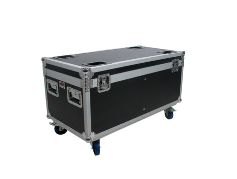 OSP PAR-CASE-8C ATA Universal Flight Case for 8 LED PAR CANS with Casters & Cups