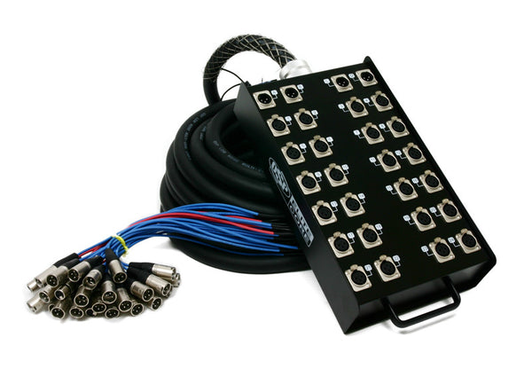 Elite Core 24 x 4 Channel 100' Pro Audio XLR Stage Box Snake Cable 24x4x100